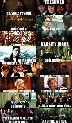 harry potter + mean girls...never gets old!