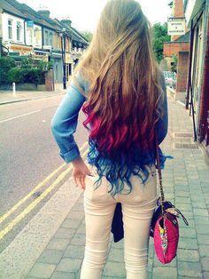 cabello de diferente color