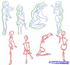 how to draw female figures, draw female bodies step 8