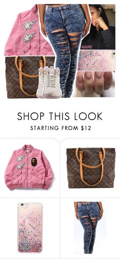 """give me the green light, & ima put the wood in ya"" by lamamig ❤ liked on Polyvore featuring Louis Vuitton and NIKE"