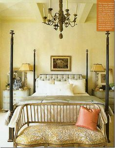 Love the chest beside the bed