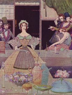 Иллюстрации Гарри Кларка к историям Эдгара Аллана По - Шелест травы