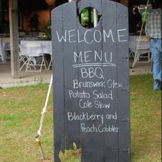 Western menu board & food suggestions