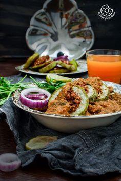 Besan Stuffed Lauki Curry - Bharwa Lauki   mygingergarlickitchen.com/ @anupama_dreams