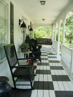 Neat Porch Painted Porch Floors Outdoor Rooms Porch Design