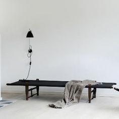 Savbriks daybed sort bejdset bøg skovshoved møbelfabrik
