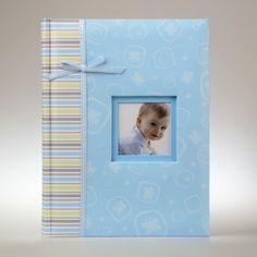 Niebieski album na zdjęcia dziecka