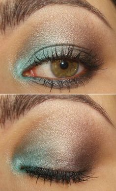 little pop of turqoise in the corner. kinda makes the nude shimmer a little…