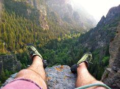 Climbing in AF Canyon, Utah
