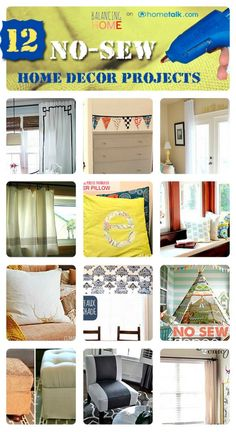 12 No-Sew Home Decor Projects