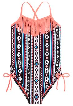 Tribal Fringe One Piece Swimsuit (original price, 29.90) available at #Justice