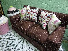Toca do tricot e crochet: mini sofá
