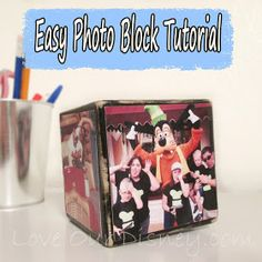 Love Our Disney: Craft Time- Make a Disney Photo Block