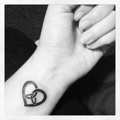 Heart, with trinity symbol...sister tat ideas with lysh and sam