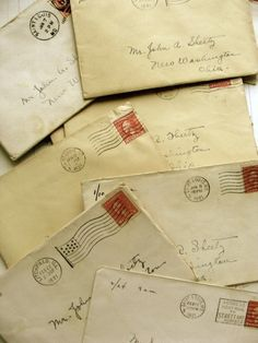 Letters From 1921. No street number or street name needed, the postman knew where to deliver the letter