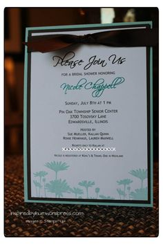 stampin up wedding invitations | Stampin' UP Bridal Shower Invitation