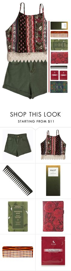 """""""Green."""" by pineapples-2 ❤ liked on Polyvore featuring Chicnova Fashion, Abercrombie & Fitch, GHD, Aveda, Wild Rose, Mason Pearson and 3LAB"""