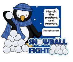 Multiplication Snowball Fight! -- Freebie!!!