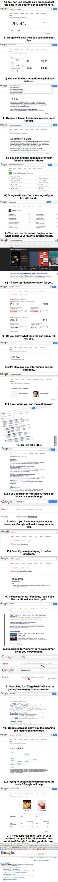 "Google be like, ""I ain't gonna tell you nothin'. Find out these tricks yourself."""