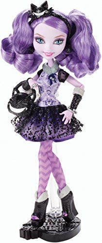 Ever After High Kitty Cheshire Doll- She's here! Soon to be available the precoious daughter of the Cheshire Cat from Wonderland is expected to be one of Mattel's annual holiday budget grenades to our wallets lol.