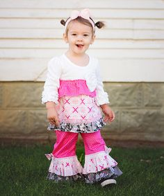 Look what I found on #zulily! RuffleButts Candy Polka Dot Ruffle Pant - Infant by RuffleButts #zulilyfinds