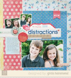 Distractions featuring Mint Julep from BasicGrey - Scrapbook.com