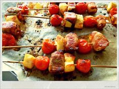 Halloumi, Tomatoes and Zucchini Skewers- Easy Appetizer | You've Got Meal!
