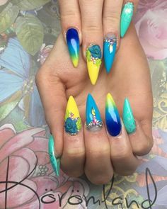 91+ Best blue and yellow nail designs
