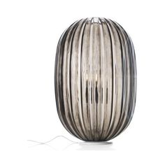Foscarini Plass Table Lamp ($711) ❤ liked on Polyvore featuring home, lighting, table lamps, grey table lamps, foscarini light, oval light, colored lamps and gray lamps