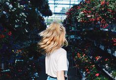 photo shoot in a Garden Center, probably.