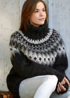 Thick Sweaters, Cute Sweaters, Girls Sweaters, Sweaters For Women, Knit Sweaters, Sweater Fashion, Sweater Outfits, Gros Pull Mohair, Icelandic Sweaters