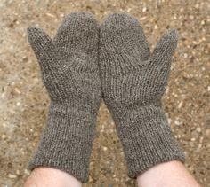 Pattern for double thick mittens