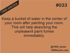 This life hack will help you to clear the bad odor after painting your room.
