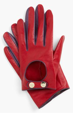 Ted Baker London Button Leather Gloves.... driving gloves?? :)