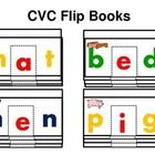 Flip Books are great for you to use in activity centers.  Students will have fun practicing reading cvc words. You can make books out of card stock...