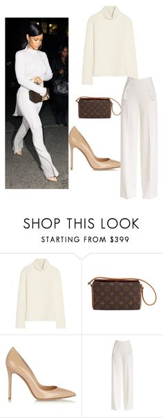 """My First Polyvore Outfit"" by elenamik on Polyvore featuring beauty, Antonio Berardi, Louis Vuitton, Gianvito Rossi and Derek Lam"