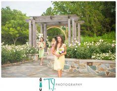 Brides Maids In The Rose Garden At Lewis Ginter Botanical Wedding