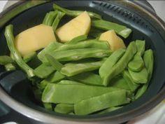 A mi me gustan mucho...en la cubeta de dentro del vaso, cabe para una persona... Ingredientes: Judías verdes Patatas Elaboración : ...