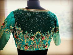 Half Saree Designs, Silk Saree Blouse Designs, Bridal Blouse Designs, Hand Work Blouse Design, Stylish Blouse Design, Download Comics, Maggam Works, Crewel Embroidery, Meraki