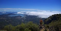 """Looking With A Hiker  At the bay view from top of the Mount Tam!  """"Climb if you will, but remember that courage and strength are nought without prudence, and that a momentary negligence may destroy the happiness of a lifetime... #LookingWith #MountTam #BayView #CA #USA"""