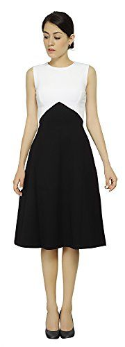 Marycrafts Women's Cocktail Party A Line Sleeveless Midi Dress