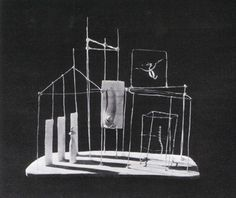 "Plaster version of ""The Palace at 4 A.M.,"" by Alberto Giacometti by Man Ray"