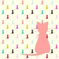 Free digital kawaii cat scrapbooking paper - ausdruckbares Geschenkpapier - freebie | MeinLilaPark – DIY printables and downloads