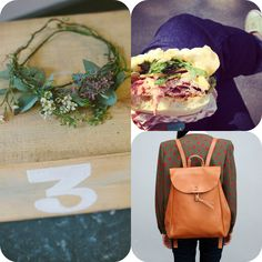 top 3 things to like: headdresses, sandwiches and leather backpacks