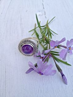 A Touch of Class Women's Amethyst Ring Size 7 | Stones in Harmony.  Absolutely exquisite!   The Amethyst is  of  amazing quality and it is set in a classy and timeless setting. Take 15% off by using the code 15Pinterest at checkout -  until Midnight only.