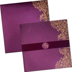 Wine Colored Paper with Beautiful Motif – Highly Elegant Variant of Muslim Wedding Cards — The Wedding Cards Online