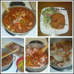 Dominican food: Locrio de chuleta aumada.