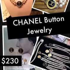 CHANEL Button Jewelry- If you find a button you LOVE but would like it set in another piece WE CAN SPECIAL ORDER STYLES FOR YOU! Vintage CHANEL button jewelry cased in sterling silver with fresh water pearls or onyx... (540) 368-2111