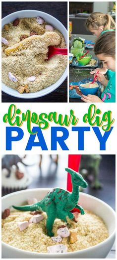 Throwing your own edible Dinosaur Dig Party is simple, easy & fun. Whether you're celebrating #NationalDinosaurDay or birthday, create magic with #YummyDinoBuddies buried under bread crumbs and candied chocolate rocks, your kids will have fun shoveling through to find their favorite dinosaurs.   #ad #DinosaurParty