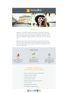 Email Design #Newsletter #Product #Material #Design  #Template #Image #Email #Marketing #Travel #Hotel #B2B #Presentation #Introducing #Agency #Welcome